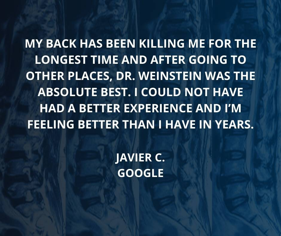Javier C. Testimonial from Google - Chiropractic Clinics of South Florida